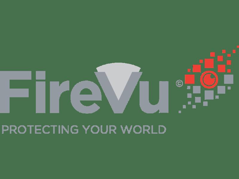FireVu logo. Graphic fireball.