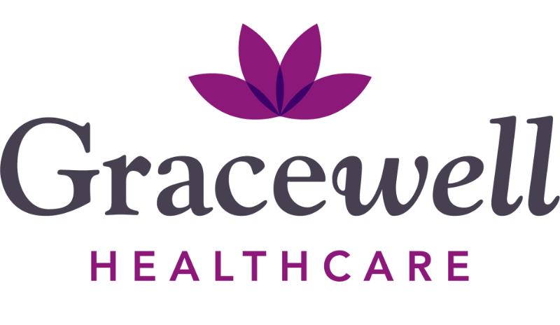 Logo: Gracewell Healthcare lotus petals.